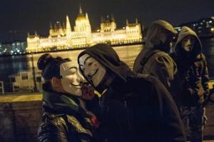 Tüntetés A Szabadság menete címmel Budapesten